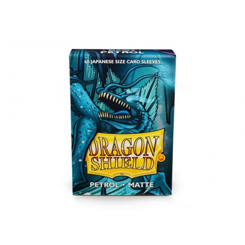 Dragon Shield - Matte Petrol - Small Japanese (60 bustine) Bustine Protettive