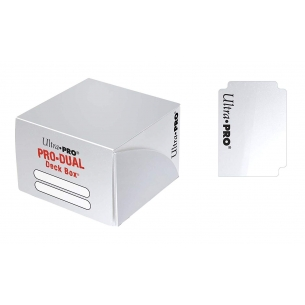 PRO Dual Standard Deck Box - White  - Ultra Pro 4,90€