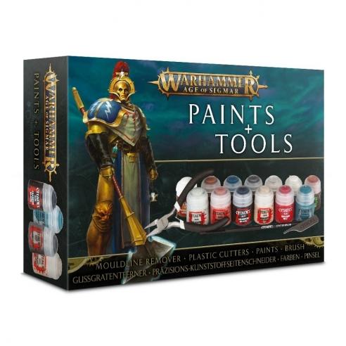 Citadel Paint Set - Warhammer Age of Sigmar Paints & Tools Set Set di Pittura