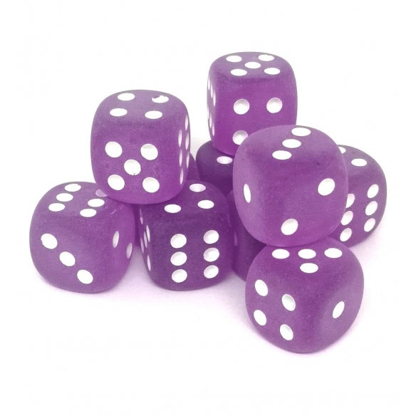 Chessex - Frosted Purple w/white - Dadi 6 facce Dadi