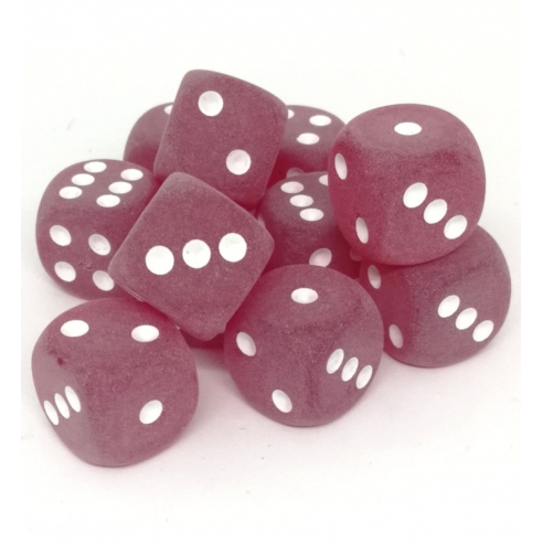 Chessex - Frosted Red w/white - Dadi 6 facce Dadi