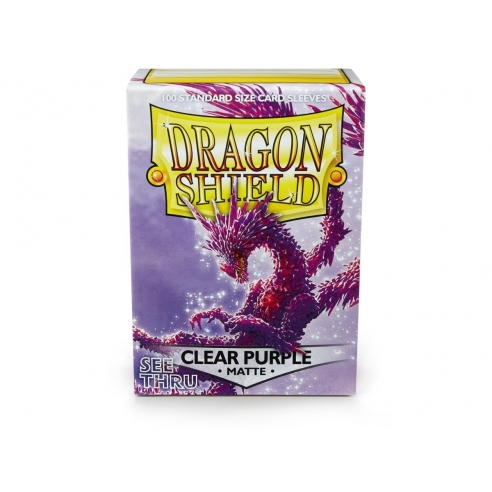 Dragon Shield - Matte Clear Purple - Standard (100 bustine) Bustine Protettive