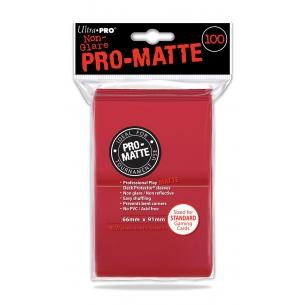 UP - PRO MATTE STANDARD SIZE - RED (100 bustine protettive)  - Ultra Pro 5,90€
