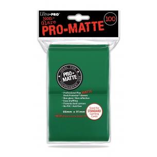 UP - PRO MATTE STANDARD SIZE - GREEN (100 bustine protettive)  - Ultra Pro 5,90€