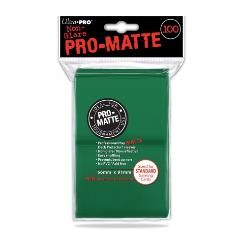 Ultra Pro - Matte Green - Standard (100 bustine) Bustine Protettive