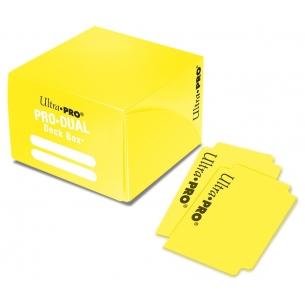 PRO Dual Standard Deck Box - Yellow  - Ultra Pro 4,90€