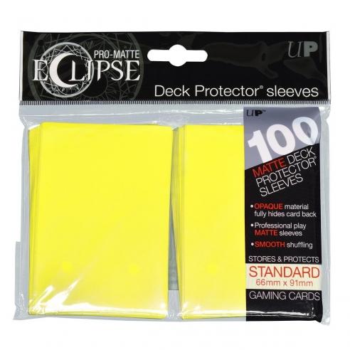 Ultra Pro - Eclipse - Matte Yellow - Standard (100 bustine) Bustine Protettive