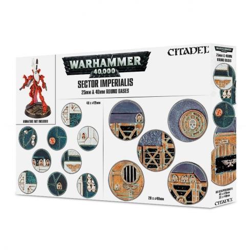 Sector Imperialis basette rotonde da 25 e 40mm Warhammer 40.000