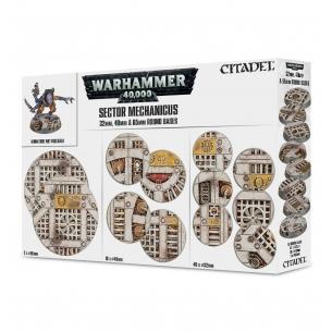 Warhammer 40.000 - Basette industriali del Sector Mechanicus Terreni e basette
