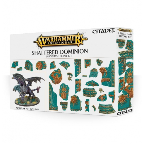 Age Of Sigmar - Kit Di Dettagli Per Basette Grandi Shattered Dominion Terreni e basette