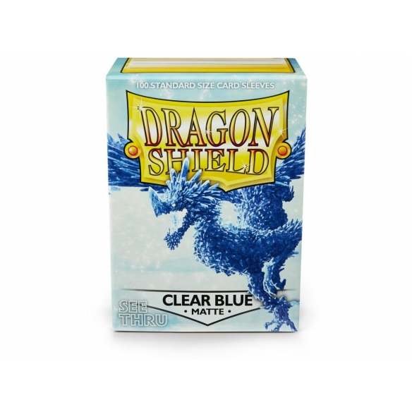 Dragon Shield - Matte Clear Blue - Standard (100 bustine) Bustine Protettive
