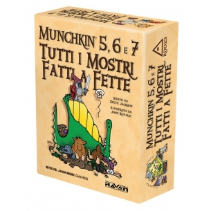 RAVEN - MUNCHKIN 5,6 E 7 TUTTI I MOSTRI FATTI A FETTE - ITALIANO  - Raven Distribution 29,90€