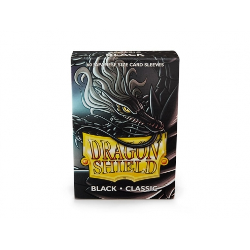 Dragon Shield - Classic Black - Small Japanese (60 bustine) Bustine Protettive
