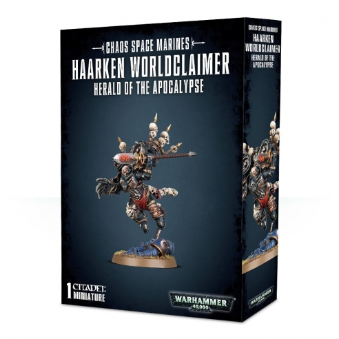 Chaos Space Marines - Haarken Worldclaimer, Araldo dell'Apocalisse Chaos Space Marines