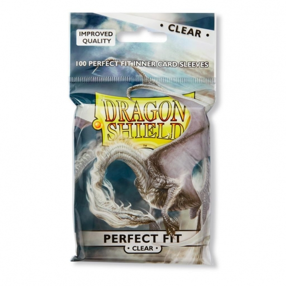 Dragon Shield - Clear - Perfect Size Standard (Toploader) (100 bustine) Bustine Protettive