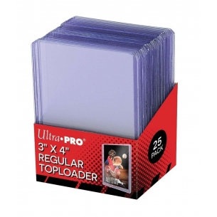 "UP - Toploader - 3\\"" x 4\\"" Clear Regular (25 Pezzi) Ultra Pro 2,90€"