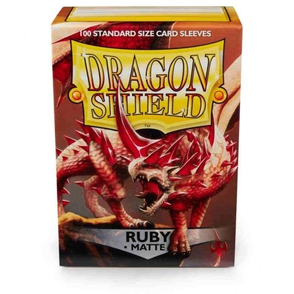 Dragon Shield - Matte Ruby - Standard (100 bustine) Bustine Protettive