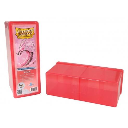 Dragon Shield - Box 4 scomparti - Pink Deck Box